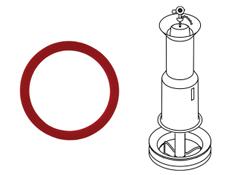 428 flush valve seal