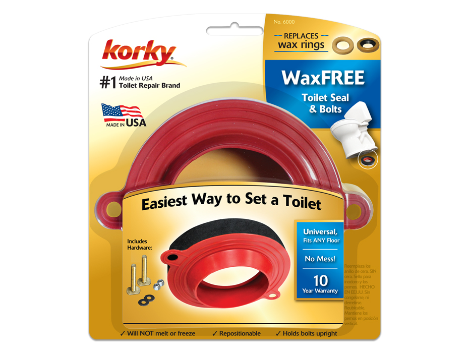 Wax Free Toilet Seal Kit with Hardware