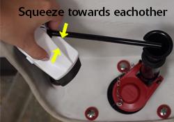 Pinch refill tube