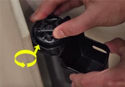 Remove fill valve cap