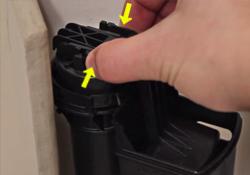 Remove fill valve float