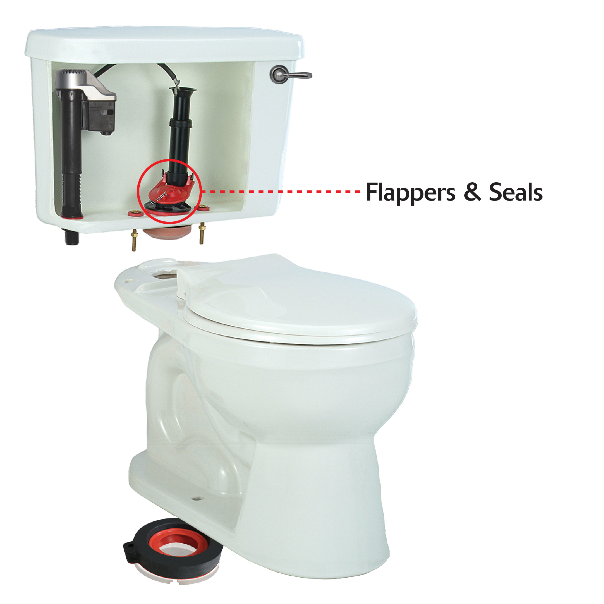 Toilet Flappers And Seals Flapper  Replacement Replacing Seal