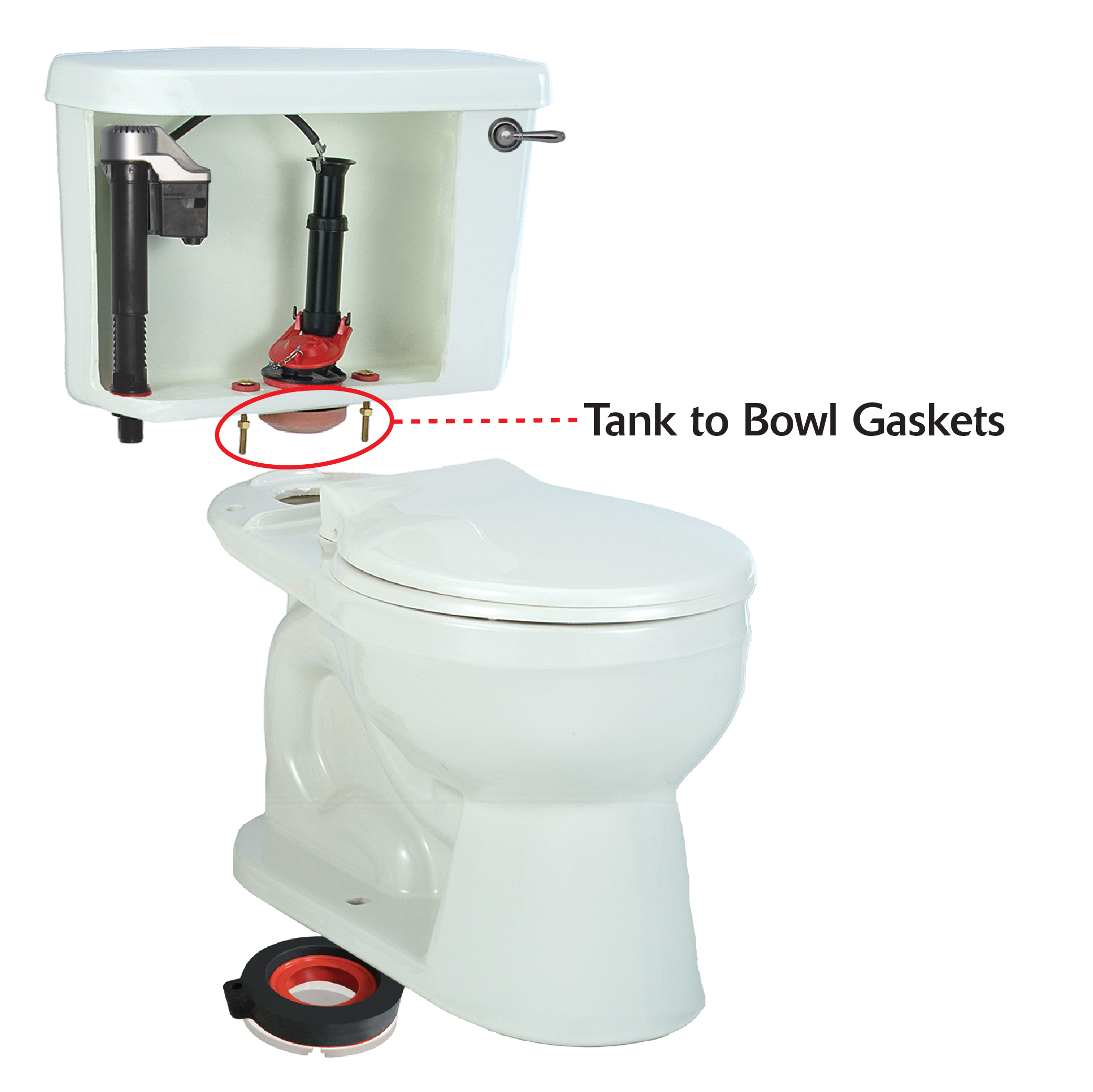 Toilet Tank To Bowl Gaskets