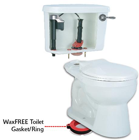 Wax Free Toilet Seal Rubber Toilet Gasket Korky Toilet
