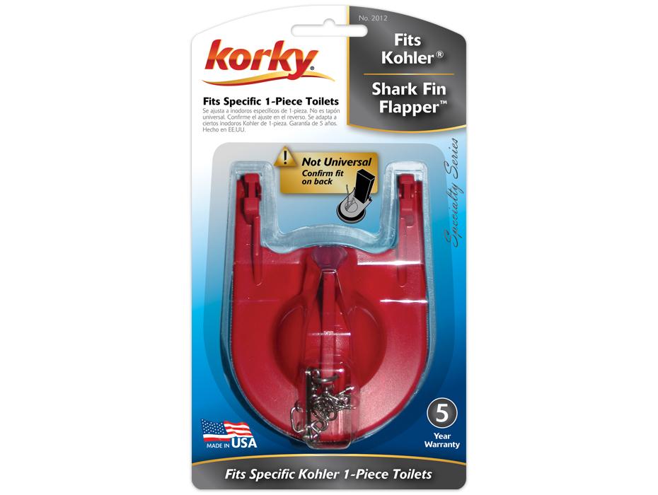 Fits Kohler Shark Fin Flapper Www Korky Com