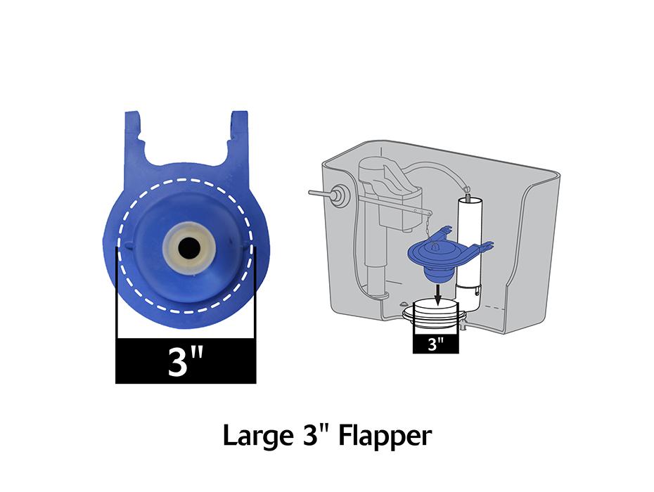 TOTO Toilet Flapper,No 2022BP Lavelle Industries Inc