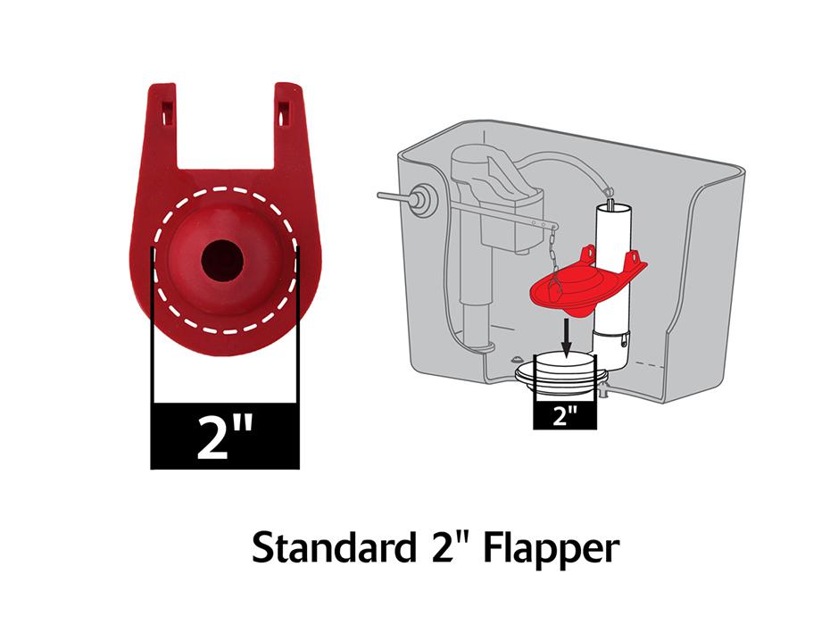 2 Quot Universal Flush Valve Repair Kit Flapper Amp Seal