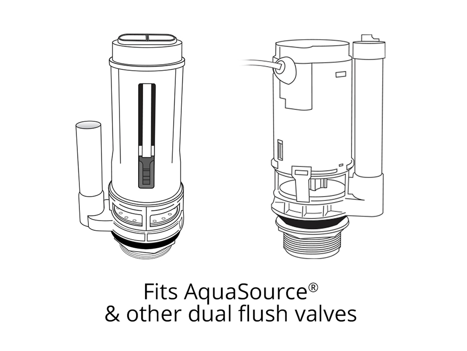 Fits AquaSource Toilets & Others Dual Flush Seal Kit