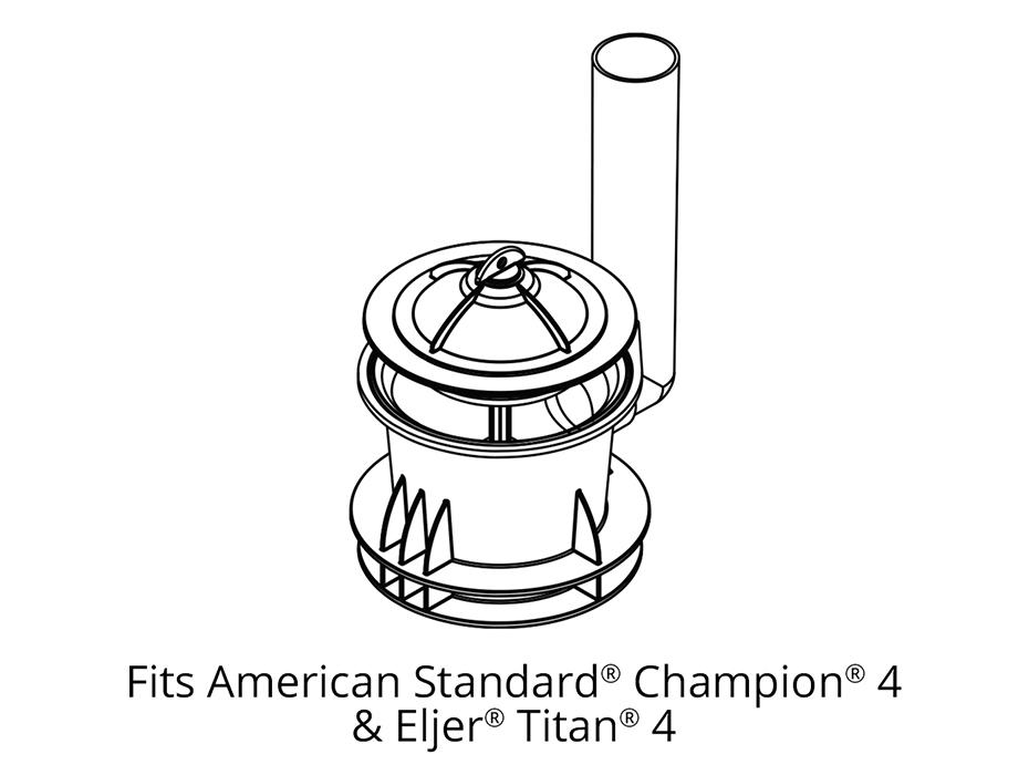 Fits American Standard Champion 4 & Eljer Titan 4 Flush Valve Seal ...