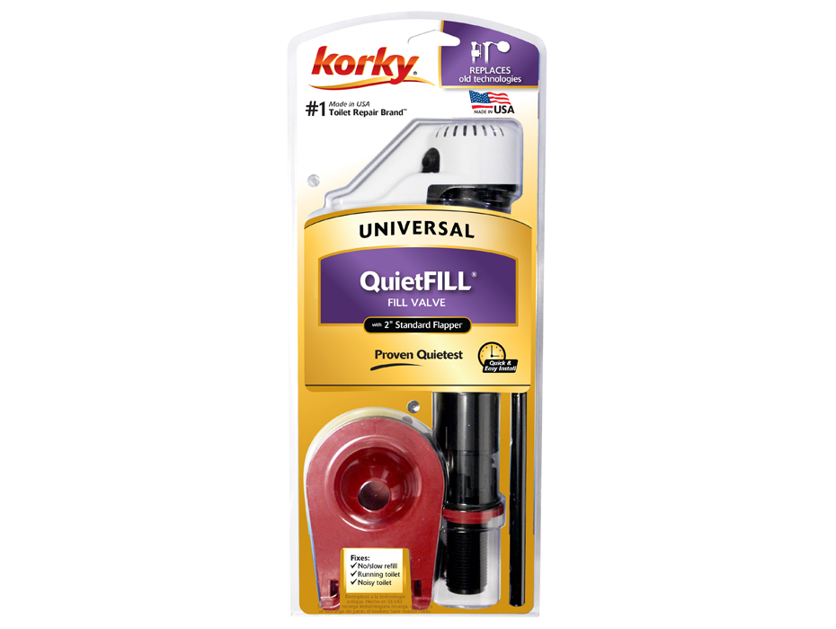 toilet fill valve and flapper. QuietFILL  Fill Valve Premium Flapper Kit Www Korky Com
