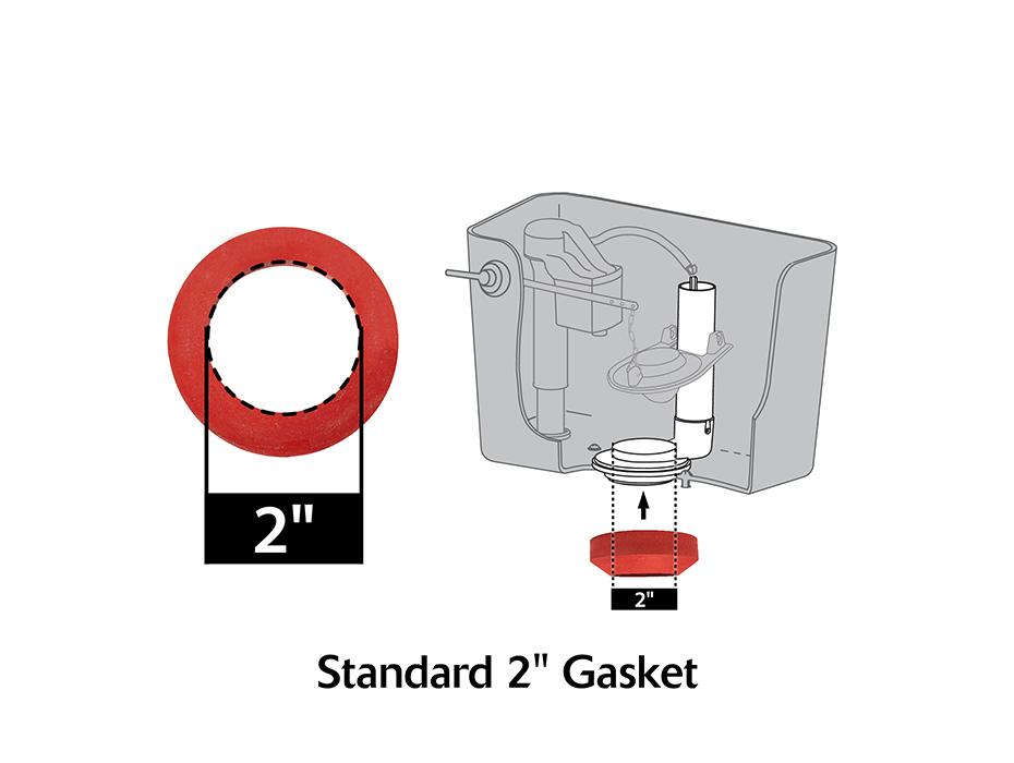 2 Quot Toilet Tank To Bowl Gasket Amp Hardware Kit Tank To