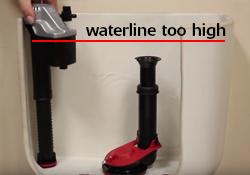 waterline too high